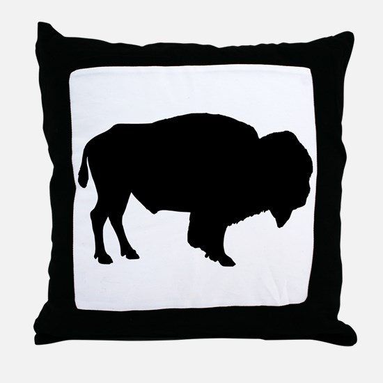 Buffalo Silhouette Throw Pillow