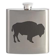 Buffalo Silhouette Flask