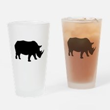 Rhinoceros Silhouette Drinking Glass