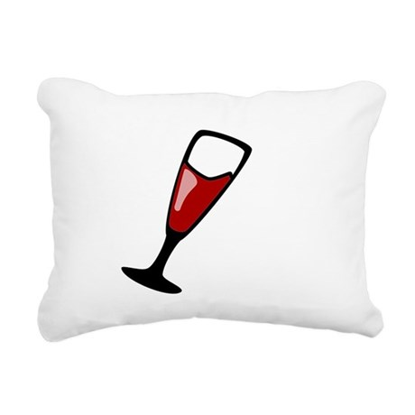 Red Wine Rectangular Canvas Pillow