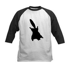 Flying Squirrel Silhouette Baseball Jersey