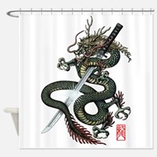 Dragon Katana Shower Curtain