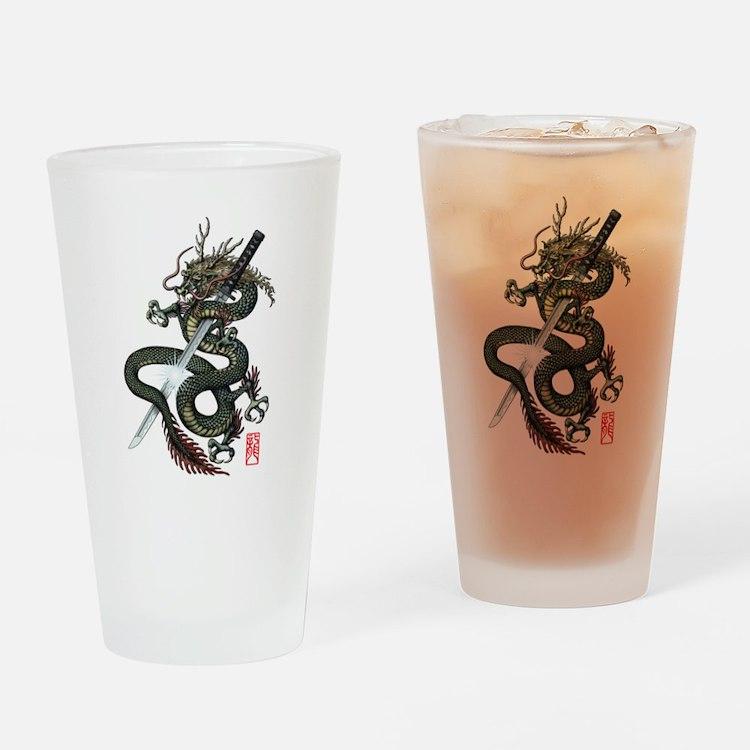 Dragon Katana Drinking Glass