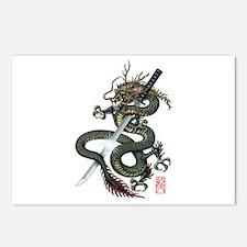 Dragon Katana Postcards (Package of 8)