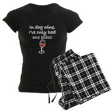 In Dog Wine pajamas