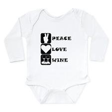 Peace Love Wine Body Suit