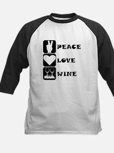 Peace Love Wine Baseball Jersey