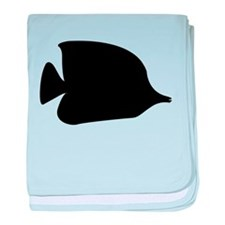 Needle Nose Fish Silhouette baby blanket