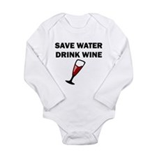 Save Water Drink Wine Body Suit
