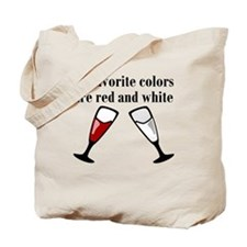 My Favorite Colors Are Red And White Tote Bag