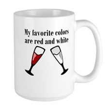 My Favorite Colors Are Red And White Mugs