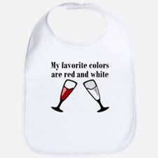 My Favorite Colors Are Red And White Bib