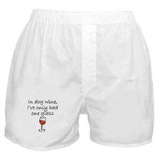 In Dog Wine Boxer Shorts