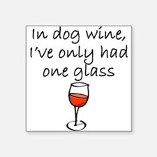 In Dog Wine Sticker