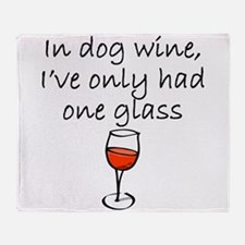 In Dog Wine Throw Blanket