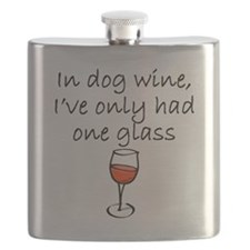 In Dog Wine Flask