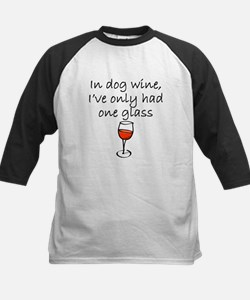 In Dog Wine Baseball Jersey