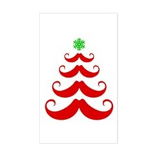 Merry Mustache! Red Decal