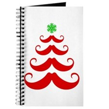 Merry Mustache! Red Journal