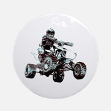ATV Racing Ornament (Round)