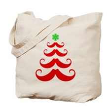 Merry Mustache! Red Tote Bag