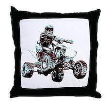 ATV Racing Throw Pillow