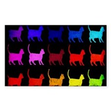 Rainbow Of Cats Decal