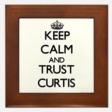 Keep calm and Trust Curtis Framed Tile