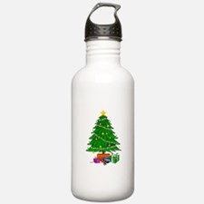 Christmas Tree and Presents Water Bottle