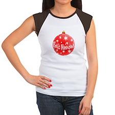 Red Christmas Feliz Navidad Ornament T-Shirt