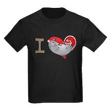 I heart rats (grey) T