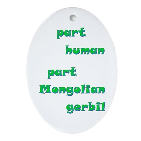 Mongolian Gerbil Oval Ornament