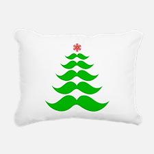 Merry Mustache! Green Rectangular Canvas Pillow