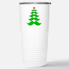 Merry Mustache! Green Travel Mug