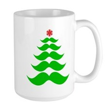 Merry Mustache! Green Mugs