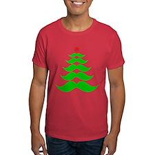 Merry Mustache! Green T-Shirt