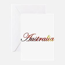 Australia Sunset Script (Dark Greeting Cards (Pack