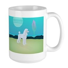 Poodle Under the Moon Mugs