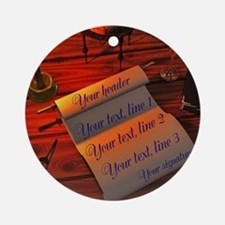Personalizable handwritten letter Ornament (Round)