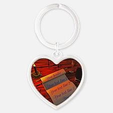 Personalizable handwritten letter Heart Keychain
