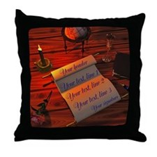 Personalizable handwritten letter Throw Pillow