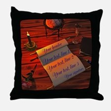 Personalizable handwritten letter Throw Pillow
