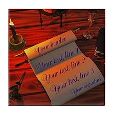 Personalizable handwritten letter Tile Coaster