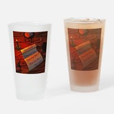 Personalizable handwritten letter Drinking Glass