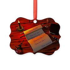 Personalizable handwritten letter Picture Ornament