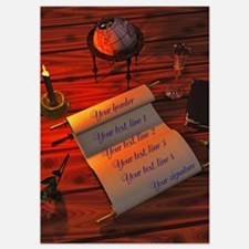 Personalizable handwritten letter Invitations