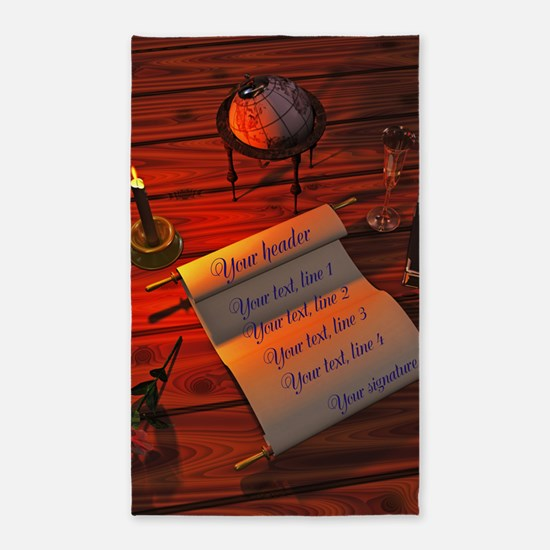 Personalizable handwritten letter 3'x5' Area Rug