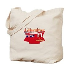 Gibraltar flag ribbon Tote Bag