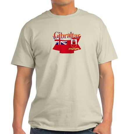 Gibraltar flag ribbon Light T-Shirt