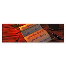 Personalizable handwritten letter Bumper Bumper Sticker